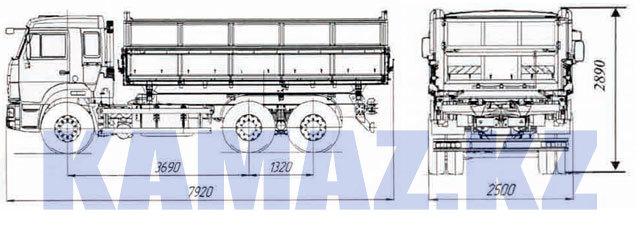 Габаритные размеры КАМАЗ-45143