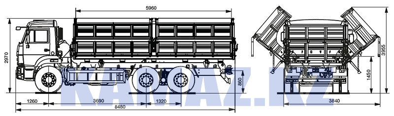 Габаритные размеры КАМАЗ-45144