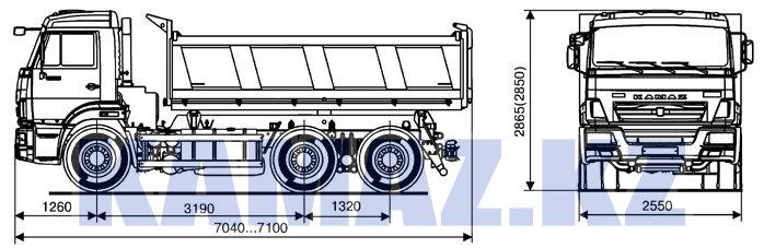 Габаритные размеры КАМАЗ-65115-6059