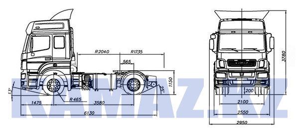 Габаритные размеры КАМАЗ-5490 NEO