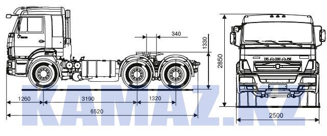 Габаритные размеры КАМАЗ-65116